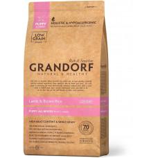 Grandorf корм для щенков собак всех пород, ягненок с бурым рисом