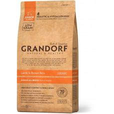 Grandorf корм для юниоров собак всех пород, ягненок с бурым рисом