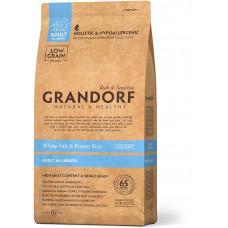 Grandorf корм для взрослых собак всех пород, белая рыба с бурым рисом