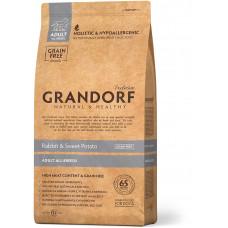 Grandorf корм для взрослых собак всех пород, кролик с бататом